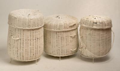 BAMILEKE BASKET (CAMEROON) WHITE