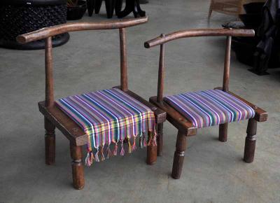 Baule chair (Ivory Coast) upholster kiko