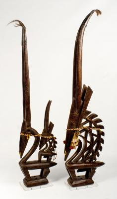 BAMBARA CHIWARA HEADDRESS PAIR SP (MALI)