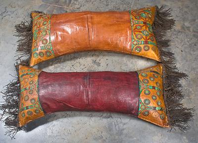 TUAREG LEATHER CUSHION+STUFFING (NIGER)