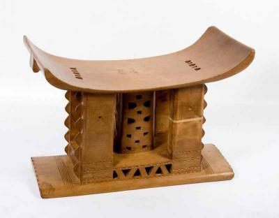 ASANTI STOOL L (GHANA) - new stock