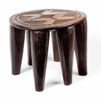 Nupe stool rect (Nigeria) - New Stock