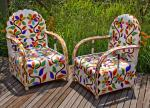 Yoruba bead armchair (Nigeria)